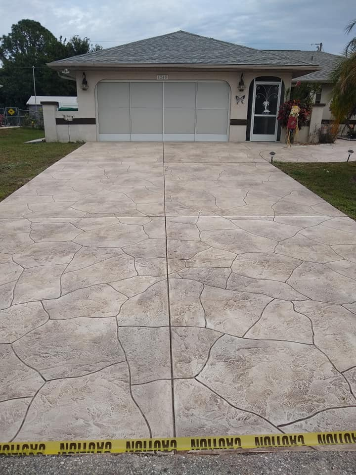 Decorative Concrete Driveway After