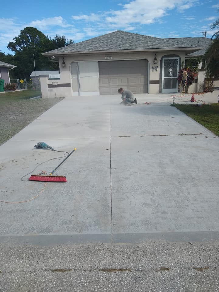 Decorative Concrete Driveway Before