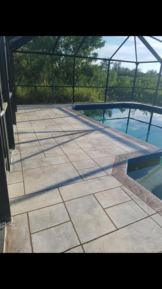 Decorative Pool Deck After