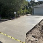 New Construction Concrete Driveway Installation