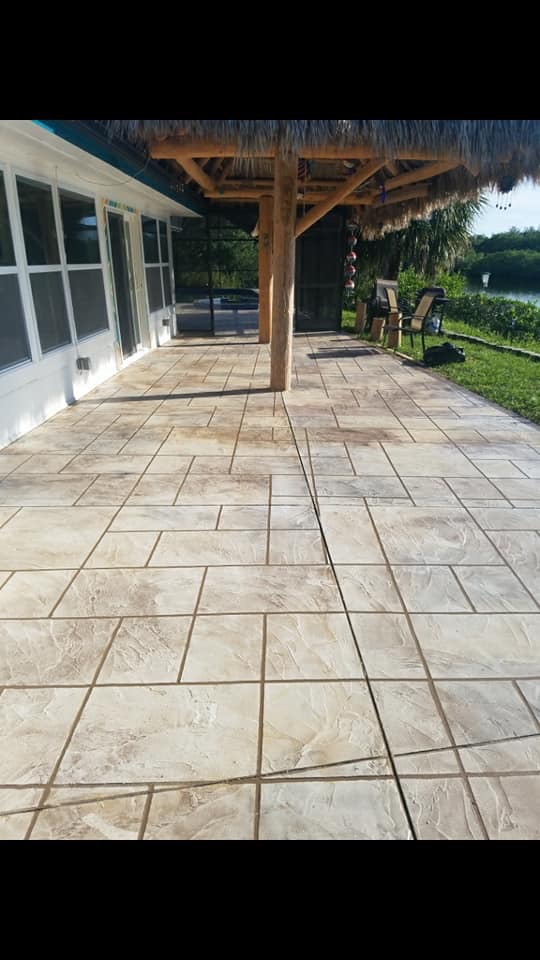 Stamped Concrete Patio After